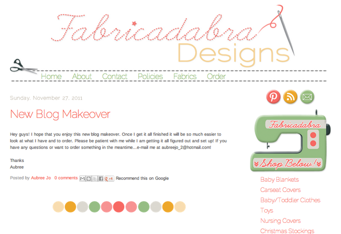 Shop & Logo Design for Fabricadabra