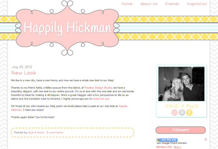 Happily Hickman Blogger Design