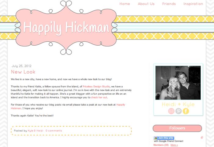 Happily Hickman Blogger Design