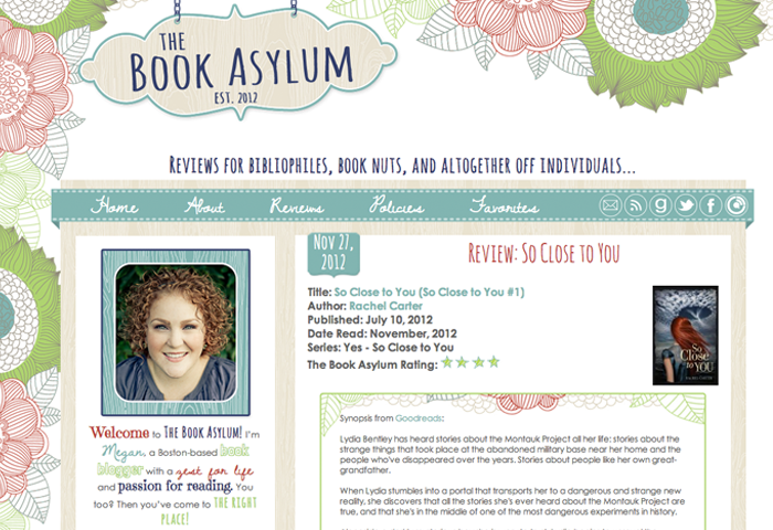 Custom Blogger Design for The Book Asylum by Priceless Design Studio