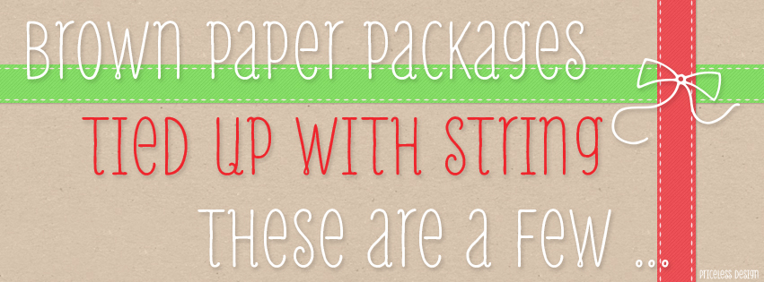 Brown Paper Packages Free Holiday Facebook Cover from Priceless Design Studio
