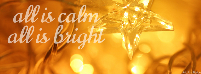 Calm and Bright Free Holiday Facebook Cover from Priceless Design Studio
