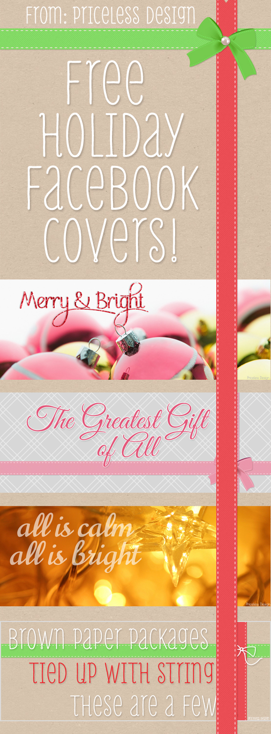Free Holiday Facebook Covers from Priceless Design