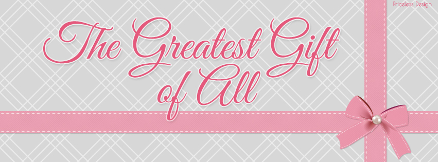 Greatest Gift free holiday facebook cover from Priceless Design Studio