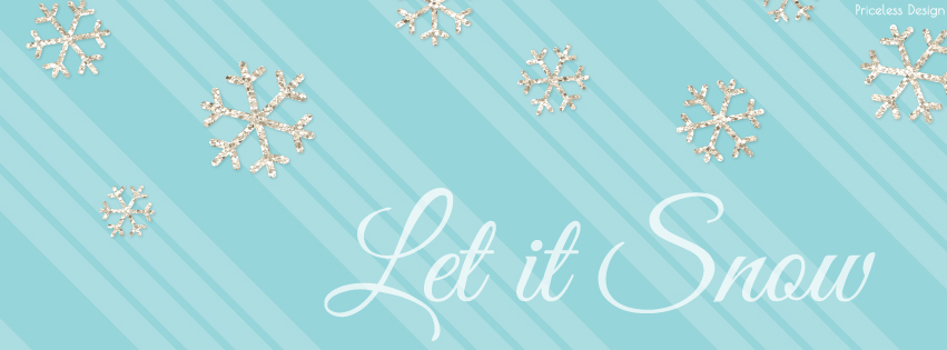 Let it Snow Free Holiday Facebook Cover from Priceless Design Studio