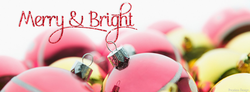 Merry & Bright free holiday facebook cover from Priceless Design Studio