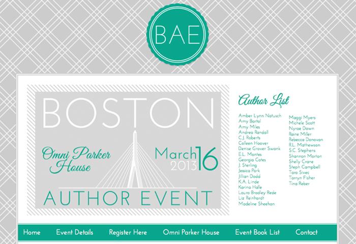 Custom Graphic & Web Design for Boston Author Event