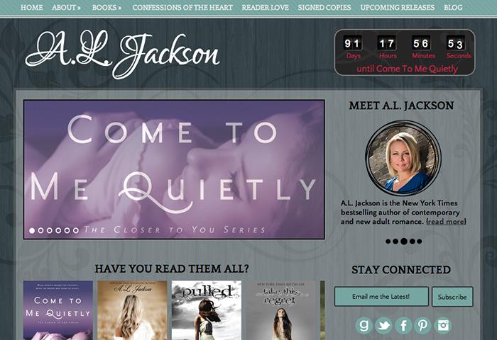 Author Website Design for AL Jackson