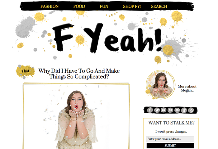 F Yeah! Fashion Blog Design for WordPress
