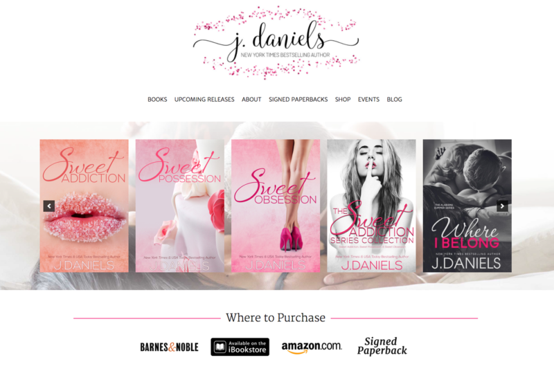 Author Website for J Daniels