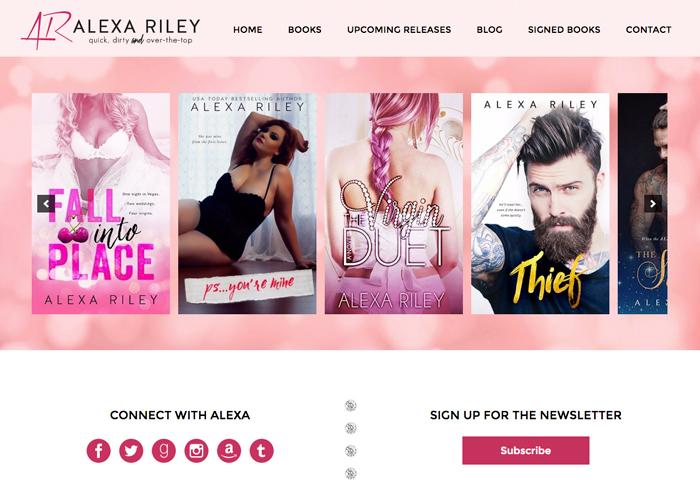 Author Site Design for Alexa Riley