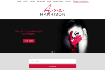 Author Web Design for Ava Harrison