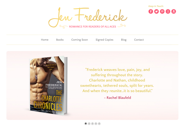 Author Site Design for Jen Frederick