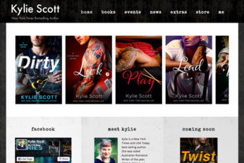 Author Site Design for Kylie Scott