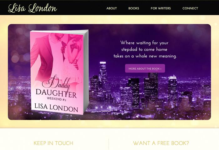 Author Site Design for Lisa London