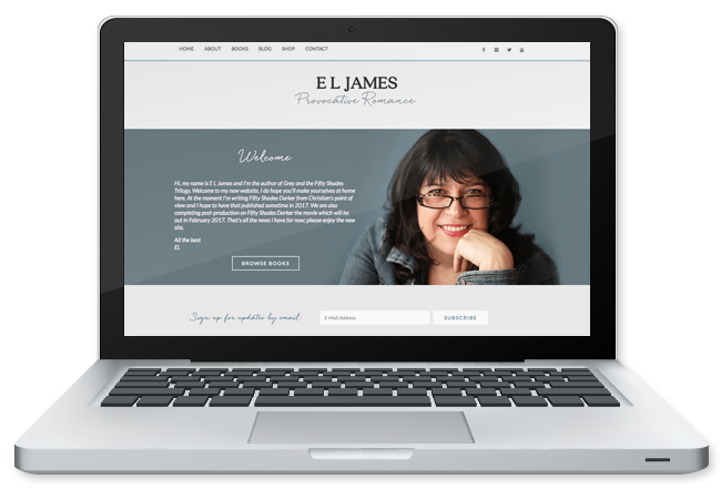 Author Site Design for EL James by PricelessDesign.com