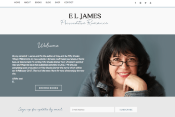 Author E L James website by PricelessDesign.com
